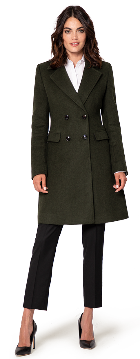 black wool woman's coat