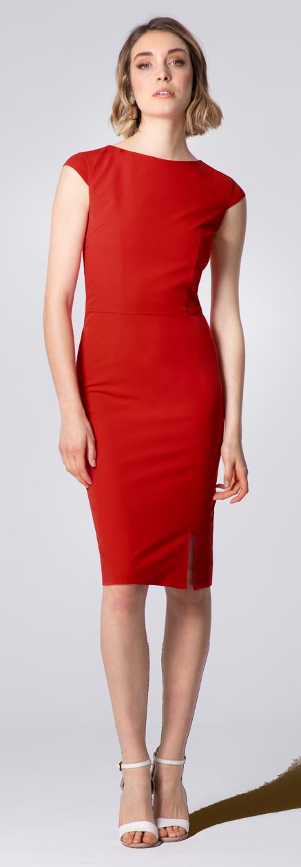 rotes kleid massgeschneider