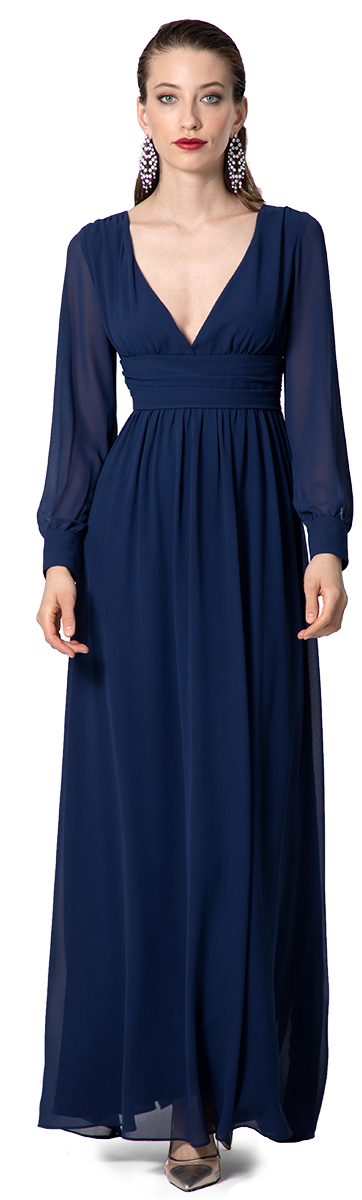 Violettes Langes Abendkleid