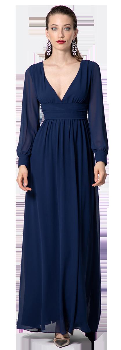 vestido de ceremonia manga larga
