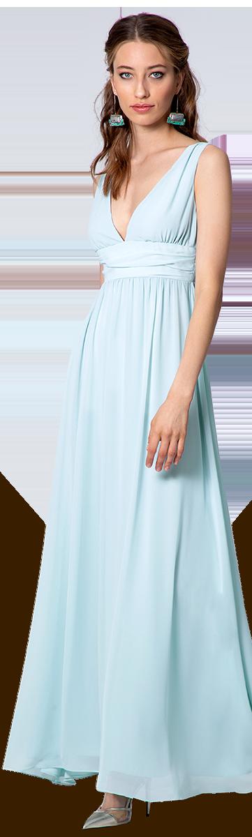 Blaue Abendkleid