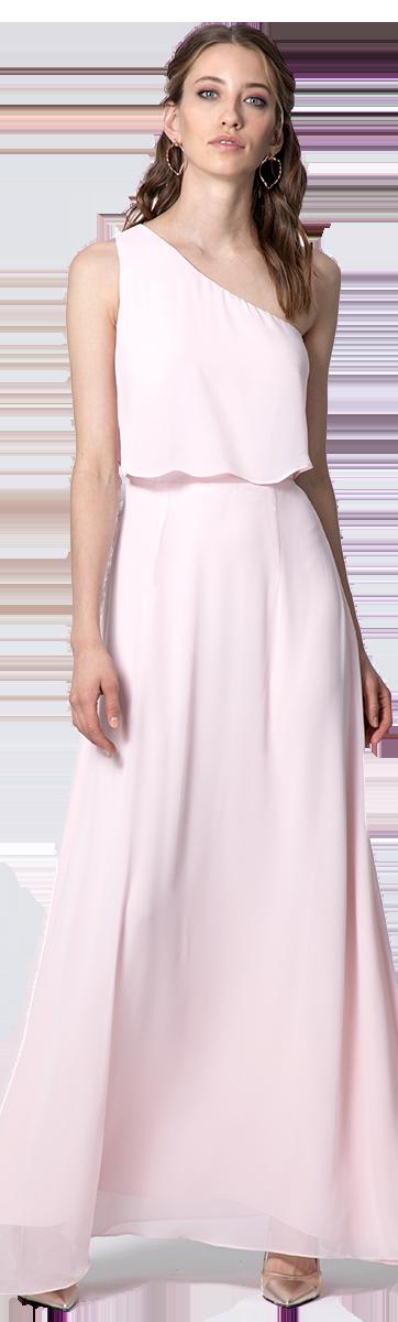 Pastellrosa Abendkleid