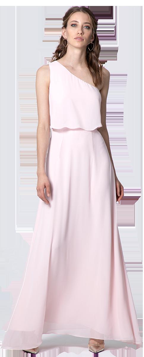 vestido de ceremonia rosa