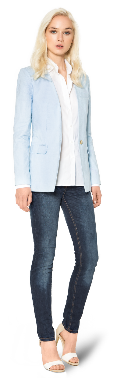 pale blue womans blazer