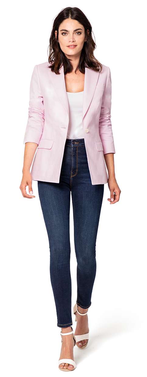 womens blazer in pink