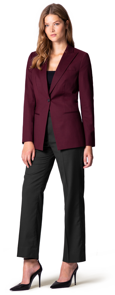 burgundy woman's blazer