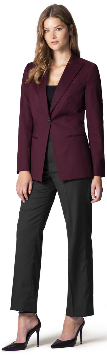 burgundy womans blazer