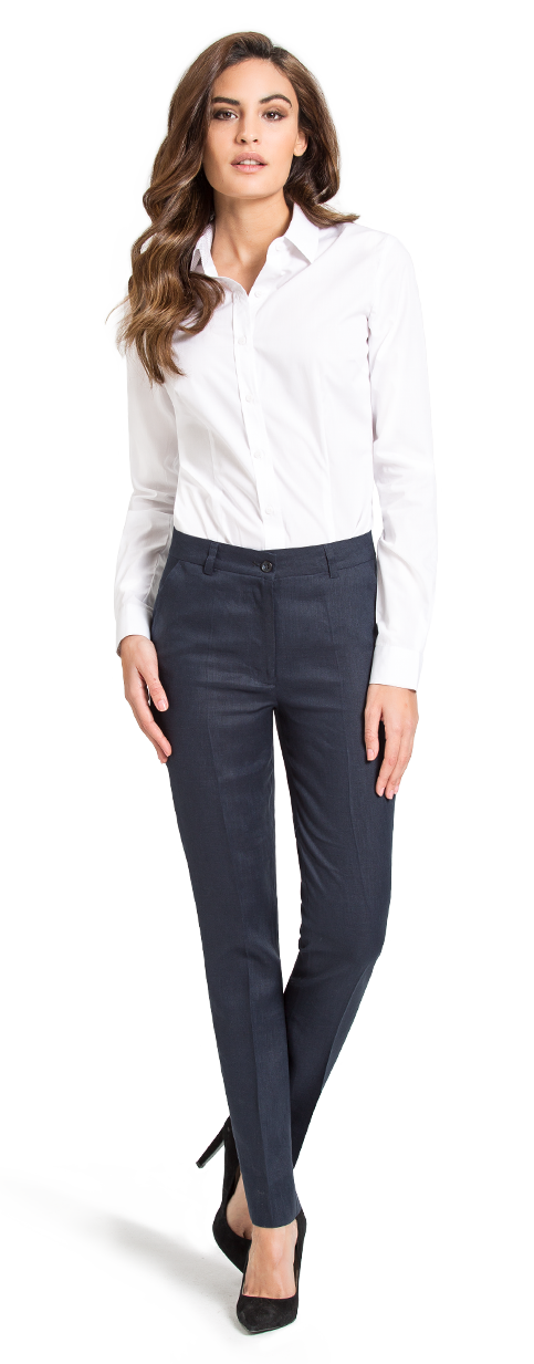 women's blue business pants
