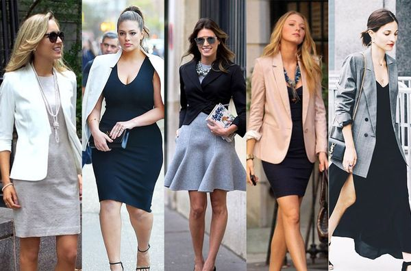 7+1 Inspirational Dresses + Blazer Outfits