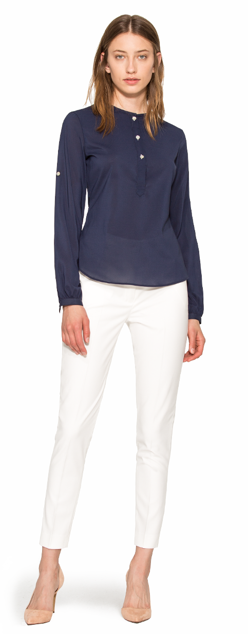 womens blue blouse