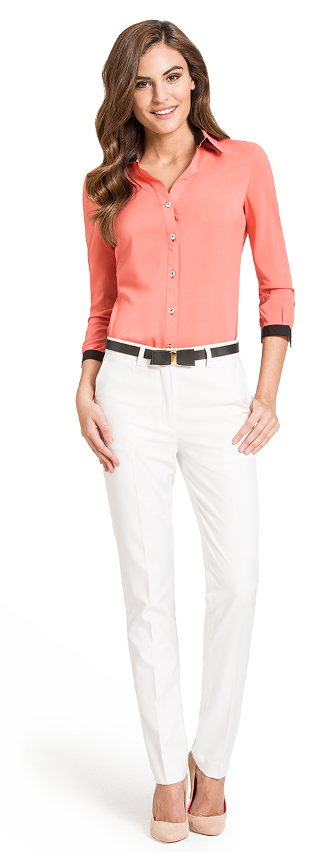 blusa mujer color coral