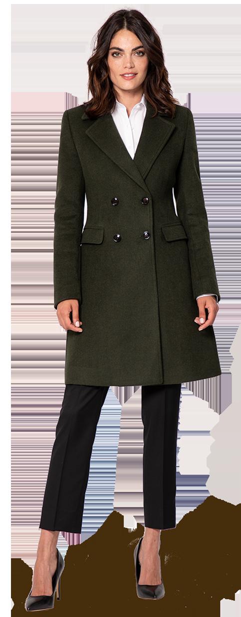 black wool woman's coat