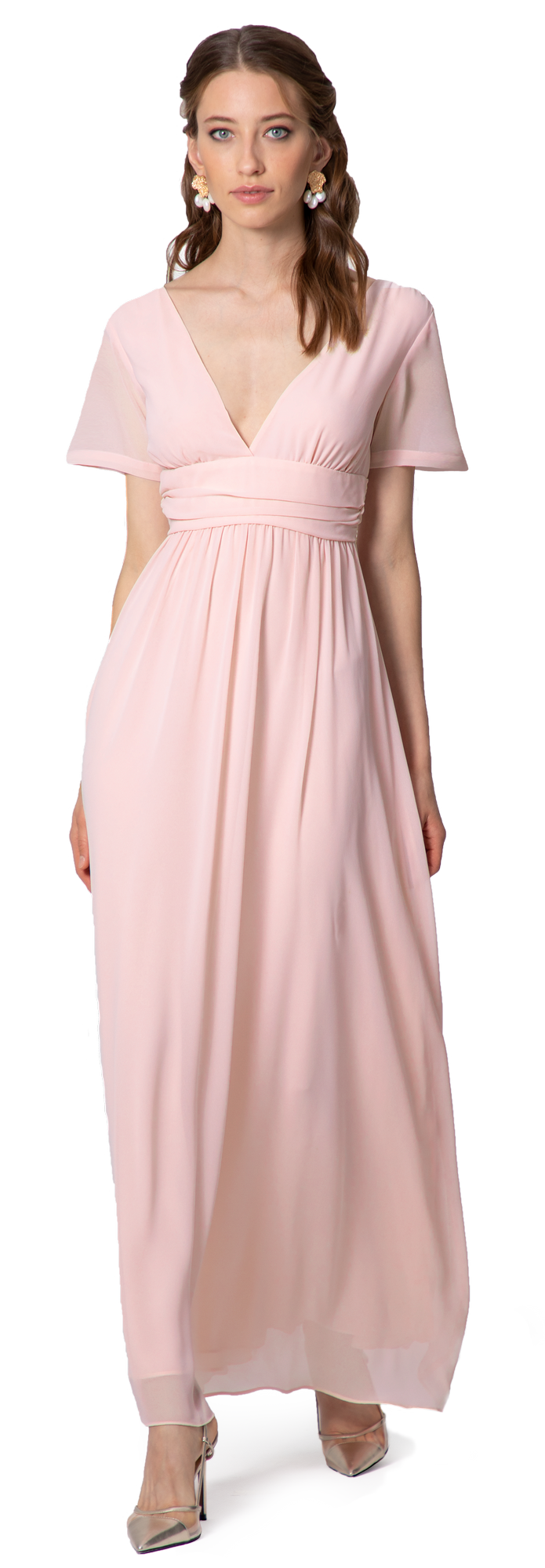 bridesmaid dress in chiffon