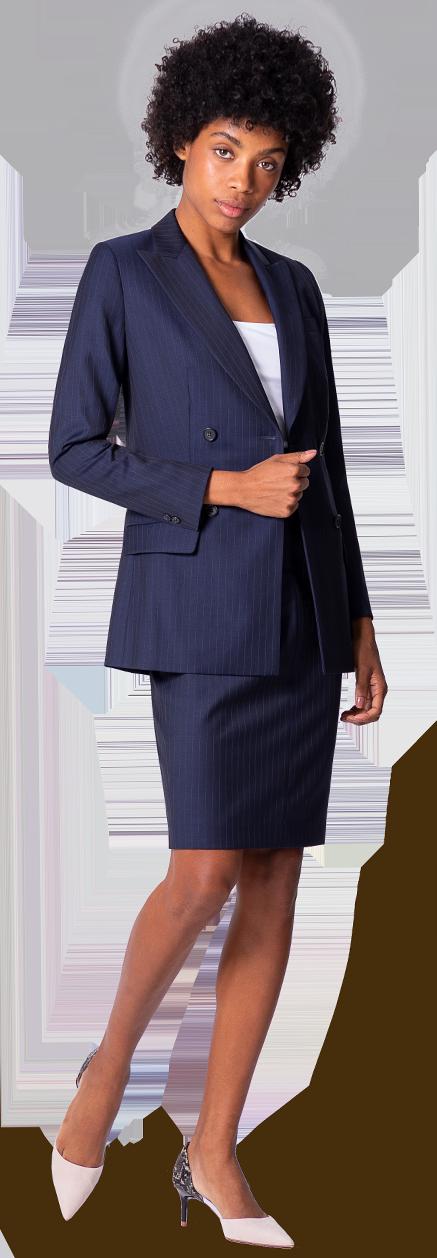 veste tailleur femme bleu