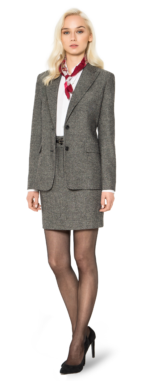 grey tweed blazer for woman