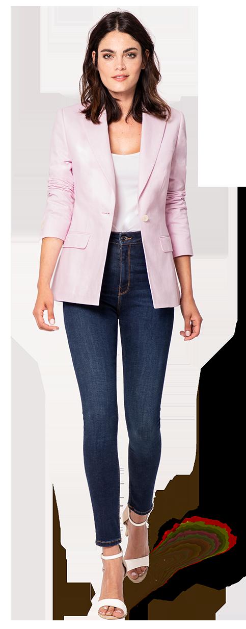 womens blazer in pink