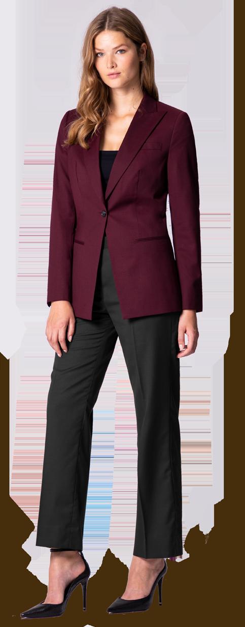 burgundy woman's blazer