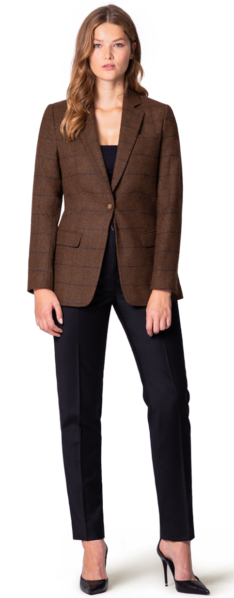 tweed blazer for woman in plus size