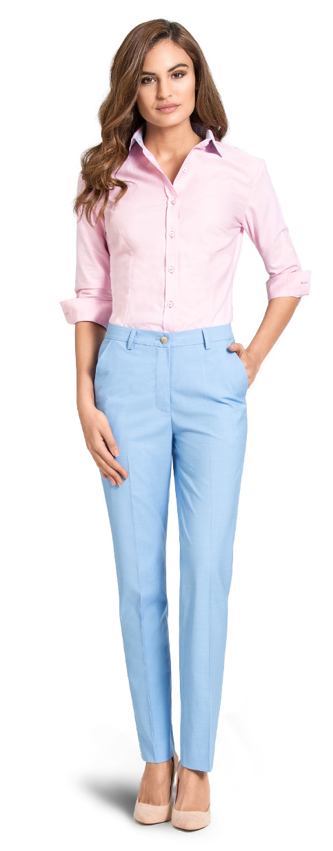 womens pale blue business pants