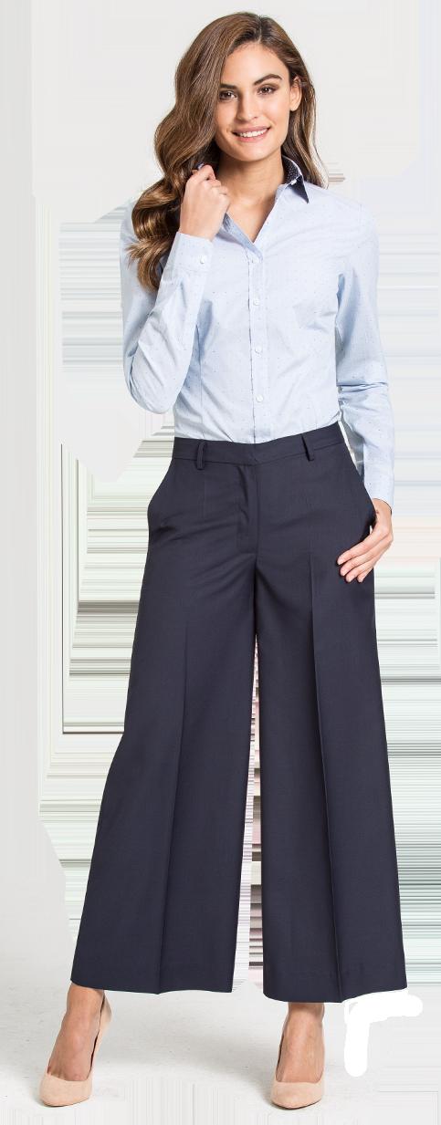 blue wide leg pant