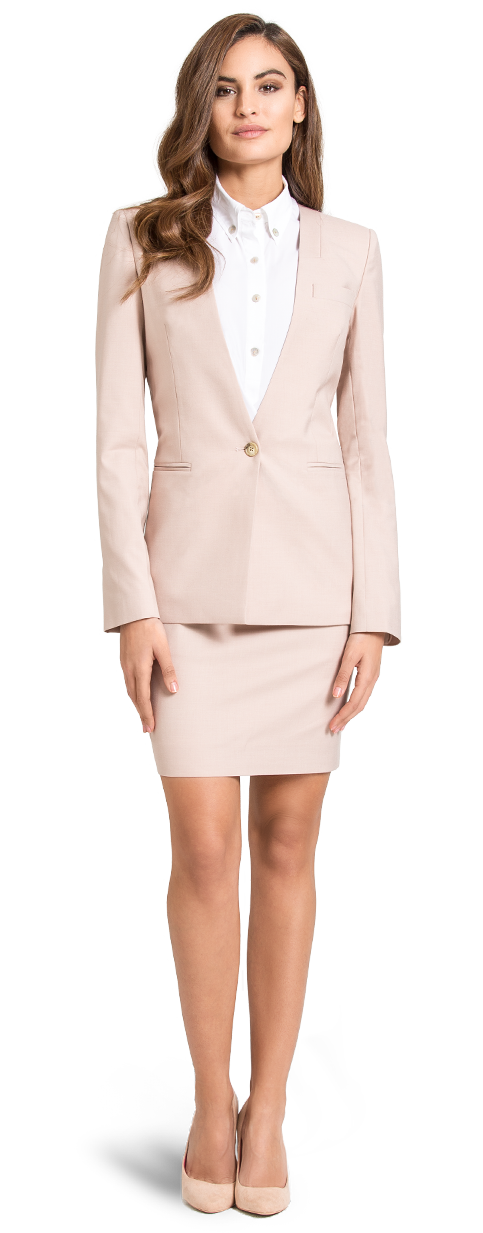 pink skirt suit for woman