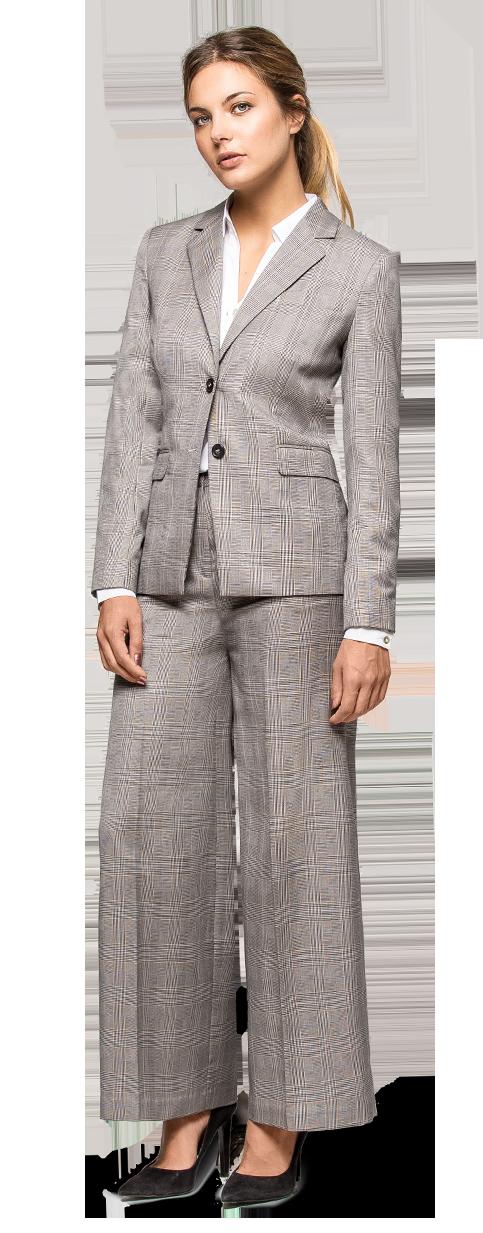 grey wide leg pant suit