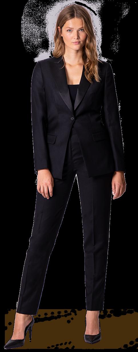plus size woman tuxedo suit