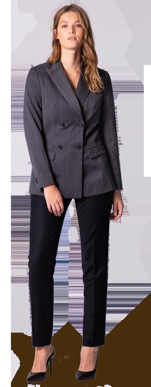 black plus size women suit