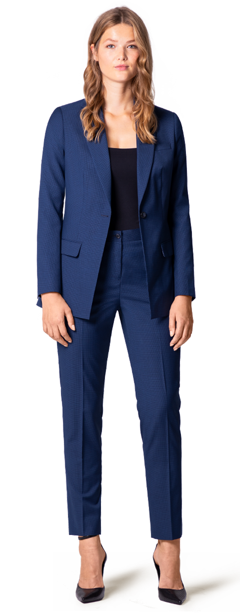 Blue Plus Size Suit